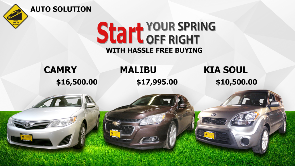 Auto Solution Spring background